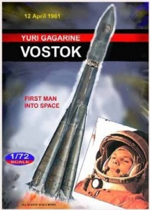 gagarin vostok rocket model – first man in space